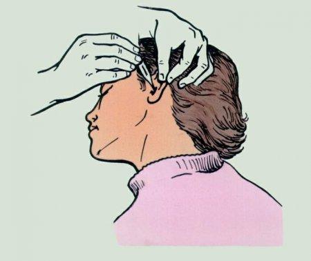 Ухо. Процедура закапывания
